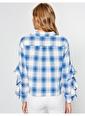 Koton Kol Detaylı Bluz Mavi